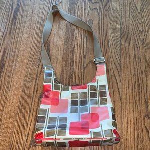 Orla Kiely Coated Canvas Crossbody Shoulder Bag